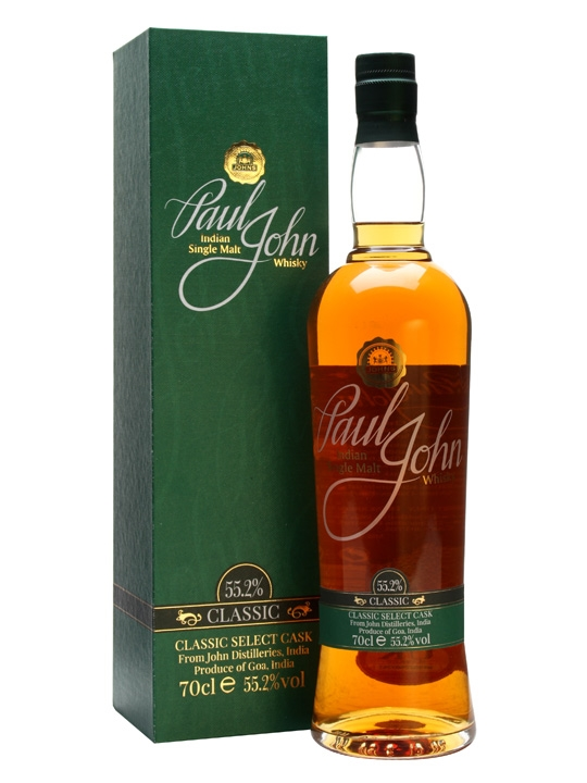Paul John Select Cask Classic Cask Strength Single Malt Indian Whisky 700ml