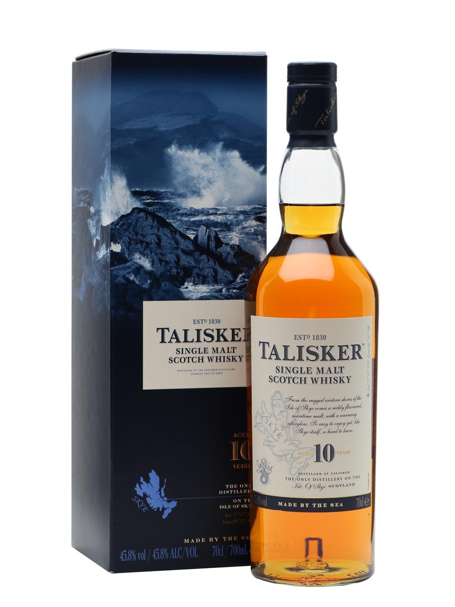 Talisker 10 Year Old Single Malt Scotch Whisky (700ml)