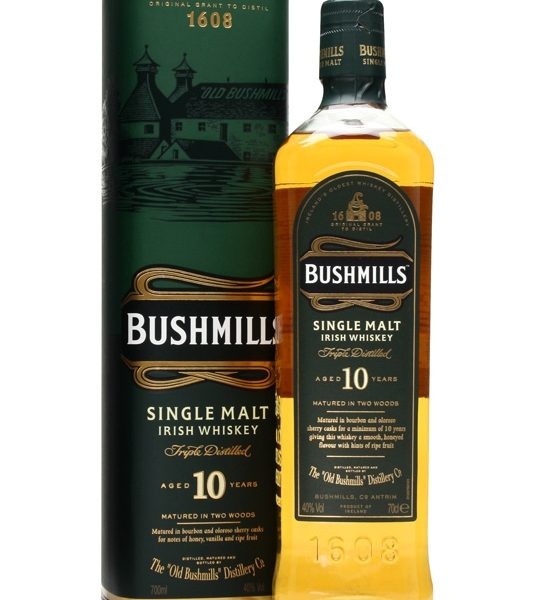 Bushmills 10 Year Old Single Malt Irish Whiskey 700ml 40 % abv