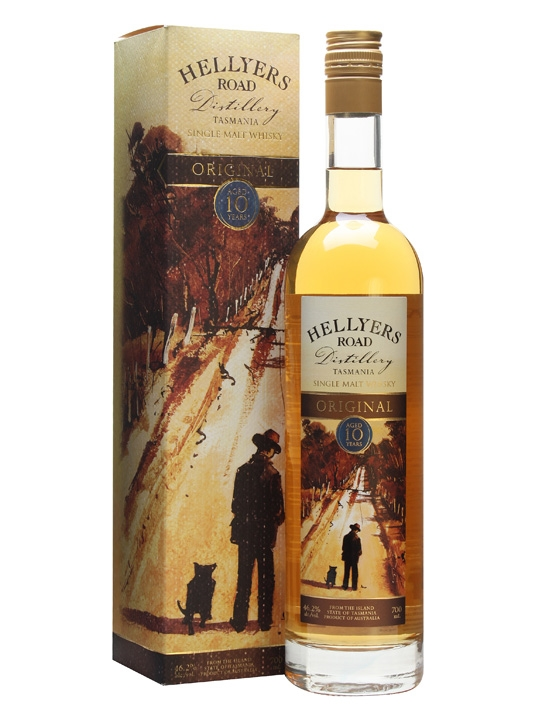 Hellyers Road 10 Year Old Original Single Malt Whisky (700mL)