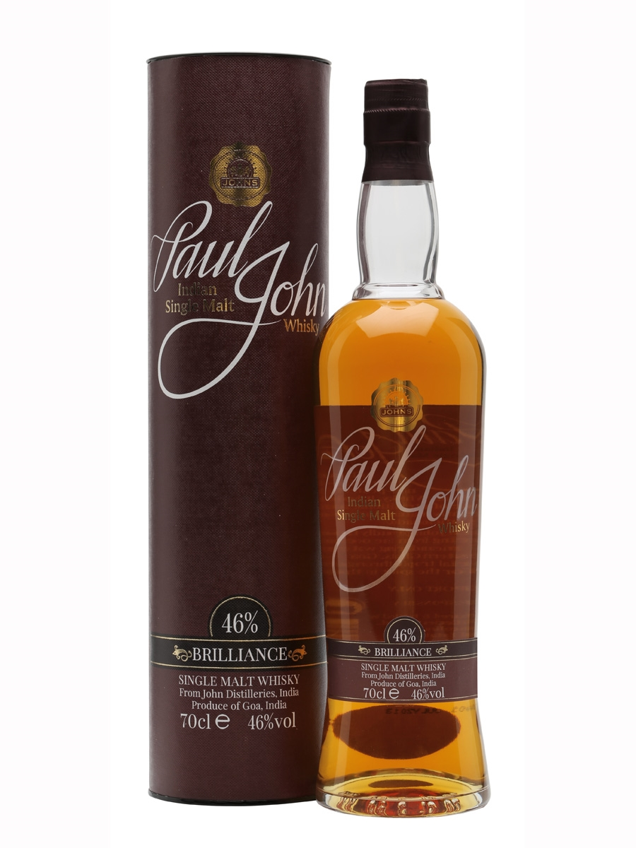 Paul John Brilliance Single Malt Indian Whisky 700ml 46 % abv