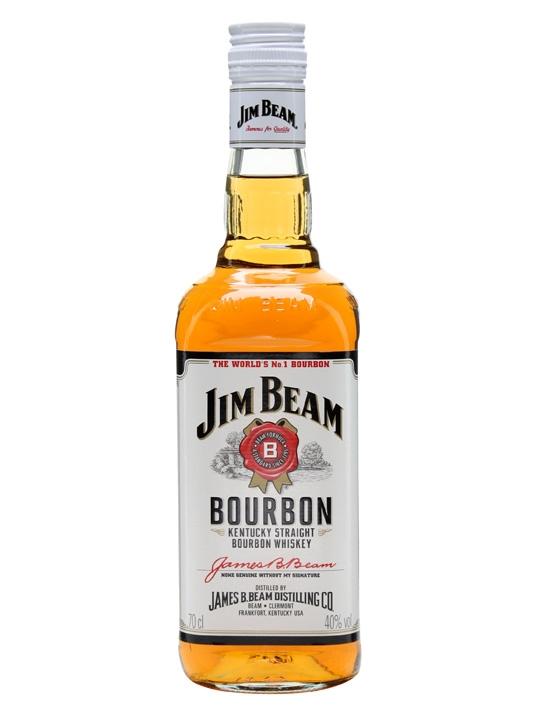 Jim Beam White Label Bourbon Whiskey (700ml)