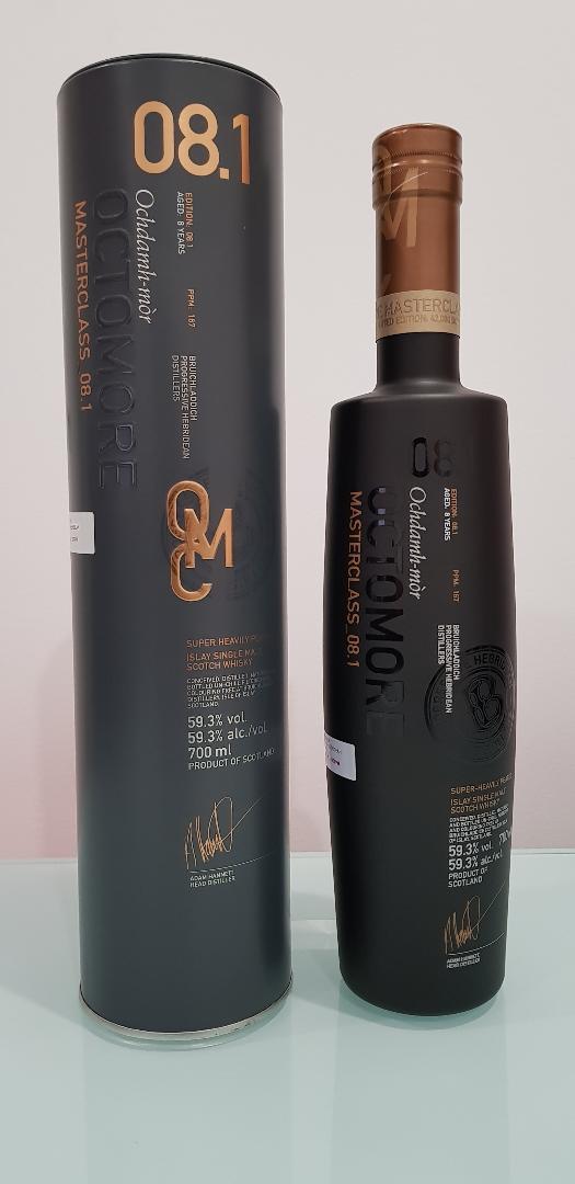 Bruichladdich Masterclass Octomore 8.1 Scotch Whisky 700ml @ 59.3 % abv