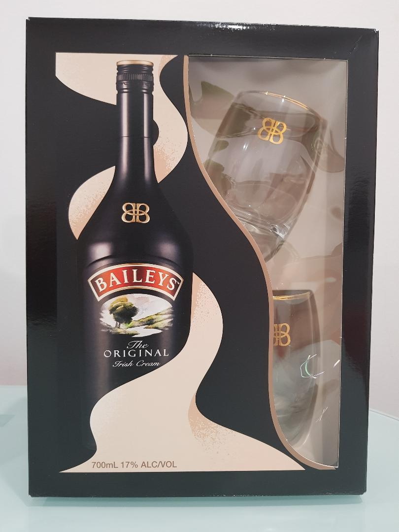 Baileys Gift Pack 700mL with 2 branded glasses