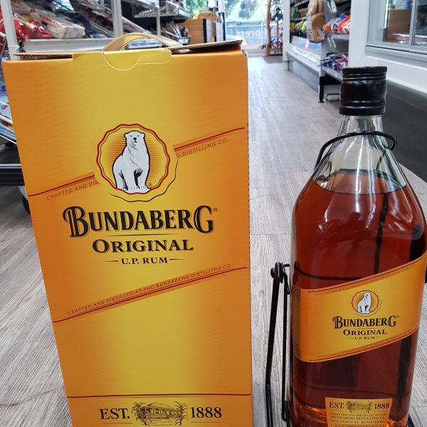 Bundaberg Rum on a cradle Limited Edition with Box 4.5 Litre