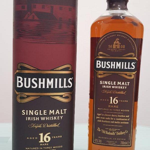 Bushmills 16 Year Old Single Malt Irish Whiskey 700ml @ 40 %