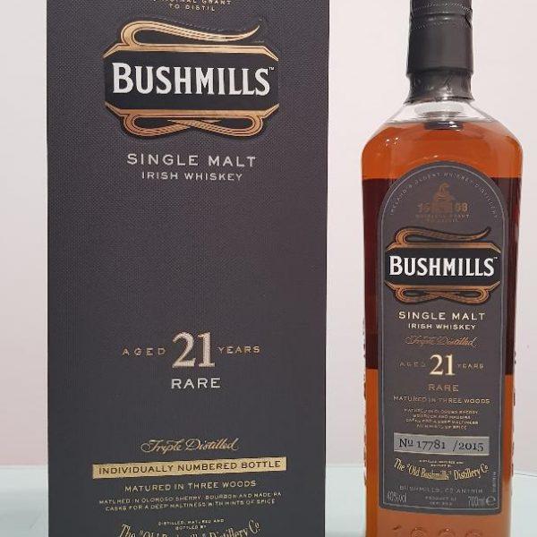 Bushmills 21 Year Old Single Malt Irish Whiskey 700ml @ 40 %