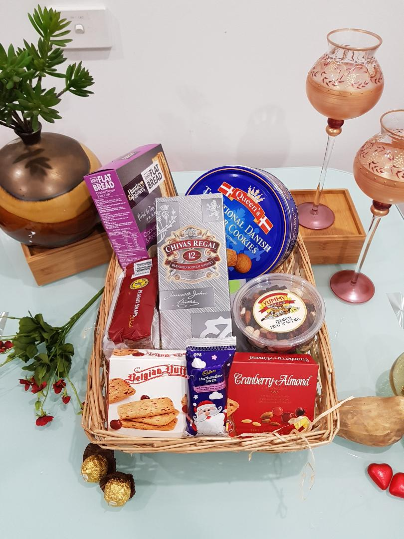 Chivas Wishes Gift Hamper - Chivas Regal 12 YO with Cookies, Chocolates and Nuts