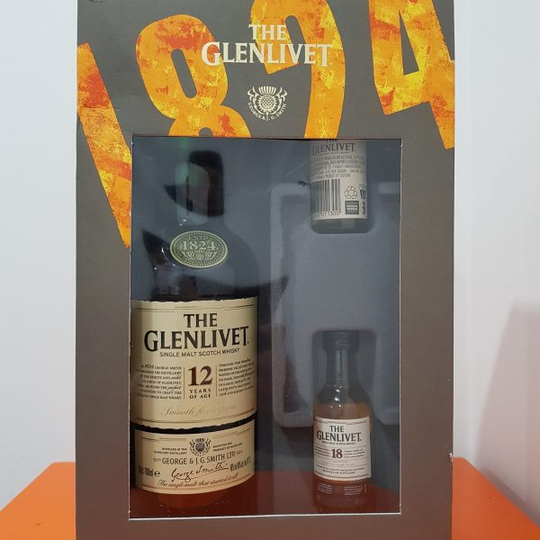 Glenlivet 12YO Limited Edition Gift Pack 700mL + 50mL 15 YO + 50 mL 18 YO