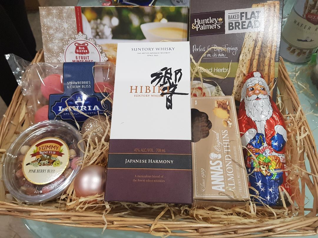 Japz warm wishes Hamper - Hibiki Harmony Japanese Whisky with Cookies, Chocolates and Nuts