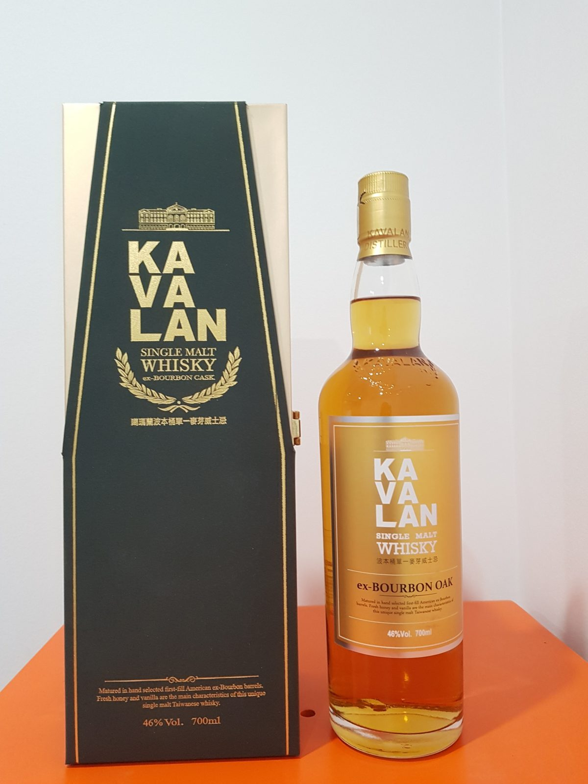 Kavalan Ex Bourbon Oak Single Malt Taiwanese Whisky 700ml @ 46 % abv
