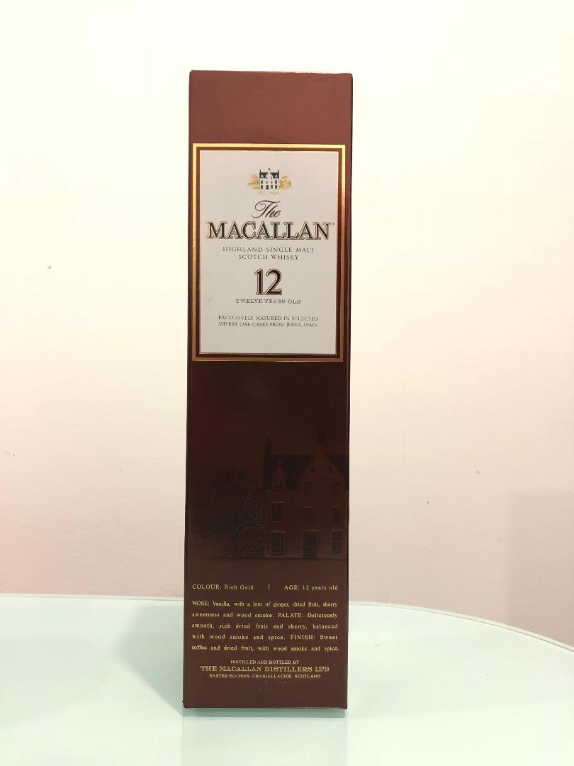 The Macallan 12 Year Old Sherry Matured Single Malt Scotch Whisky (750ml) @ 43% abv