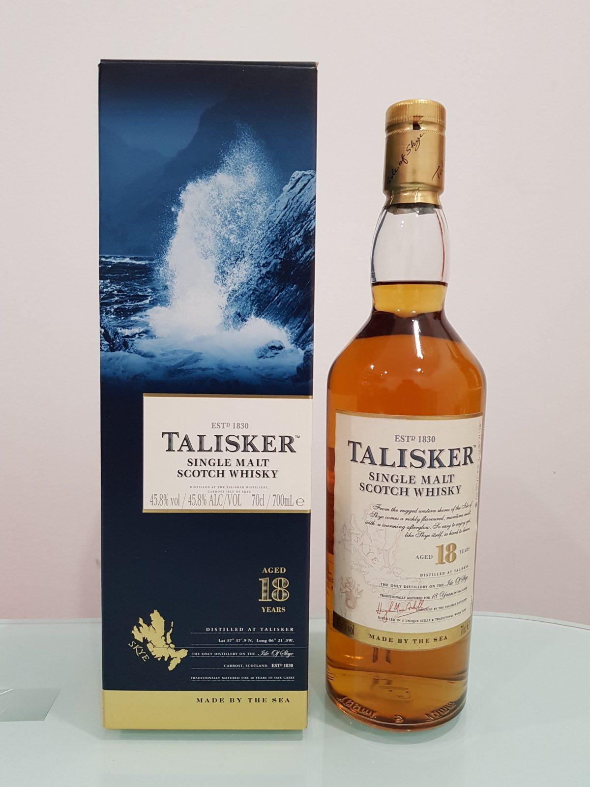 Talisker 18 Year Old Single Malt Scotch Whisky 700ml 45.8 % abv