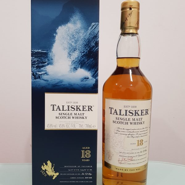 Talisker 18 Year Old Single Malt Scotch Whisky 700ml 45.8 % abv