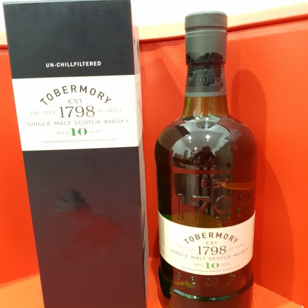 Tobermory 10 Year Old Single Malt Scotch Whisky 700ml 46.3 % abv