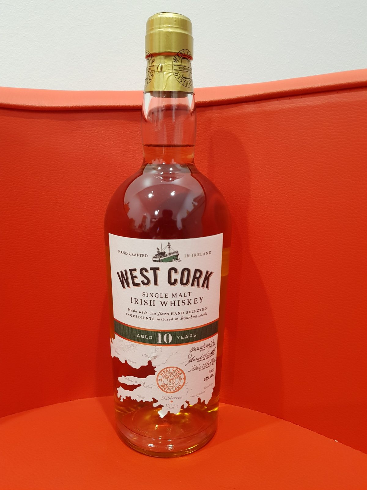 West Cork 10 Year Old Single Malt Irish Whiskey 700ml 40 % abv