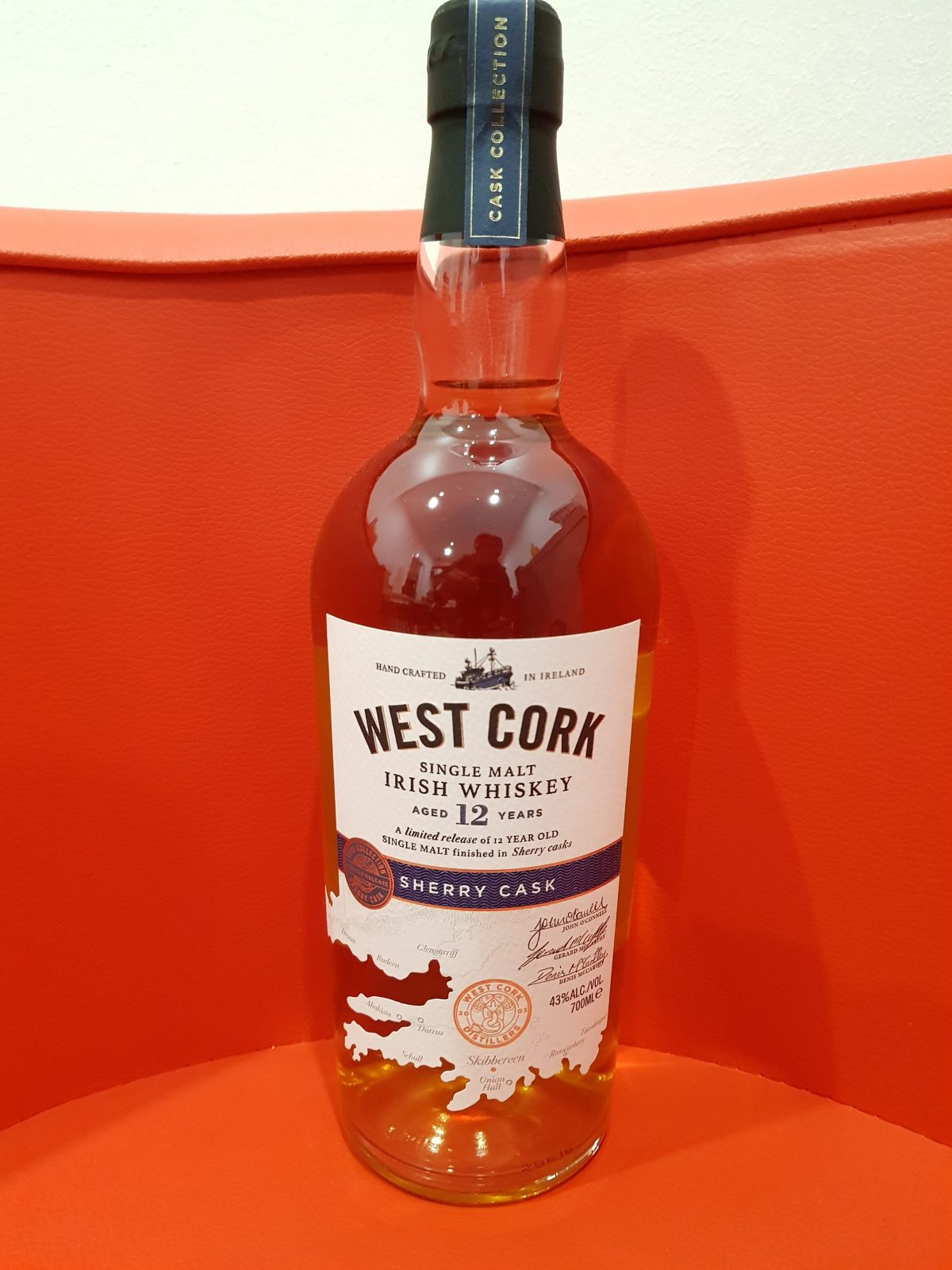 West Cork 12 Year Old Sherry Cask IRISH Whiskey 700ML 43 % abv