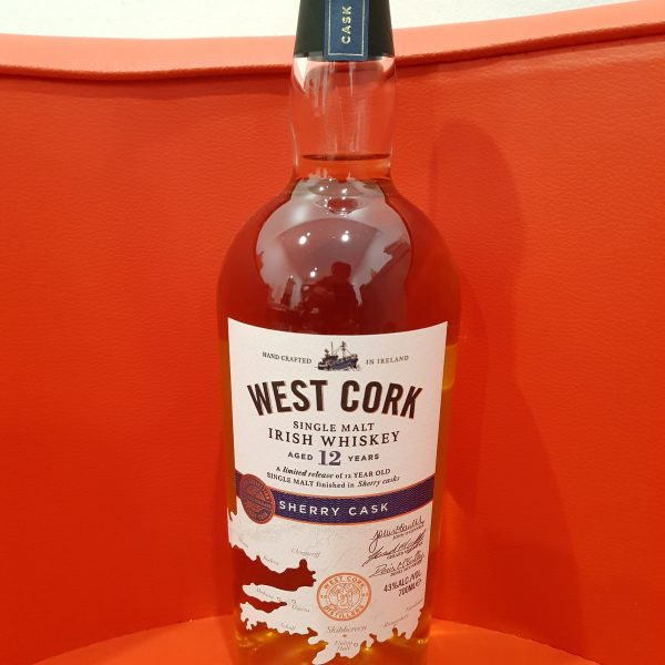 West Cork 12 Year Old Sherry Cask IRISH Whiskey 700ML 43 % abv