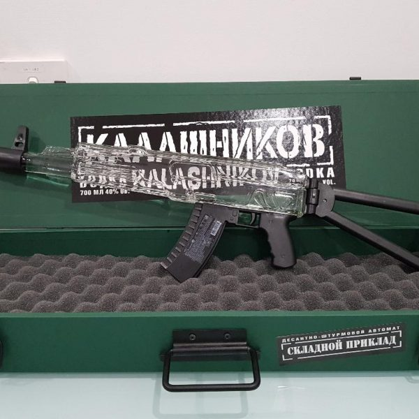 Kalashnikov Russian Vodka AK47 in Wooden Box 700 ml