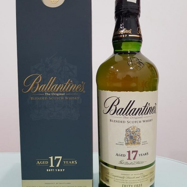 BALLANTINE'S 17YO SCOTCH WHISKY 750ML @ 40 % abv