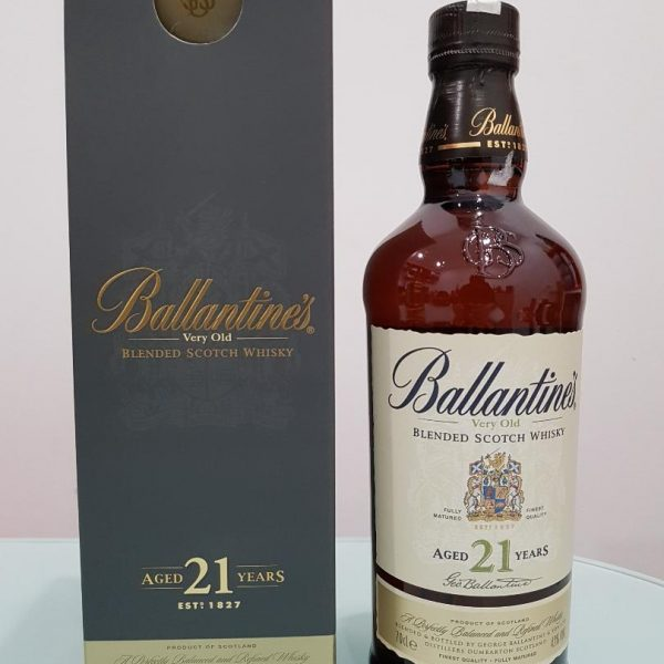 BALLANTINE'S 21YO SCOTCH WHISKY 700ML @ 43 % abv