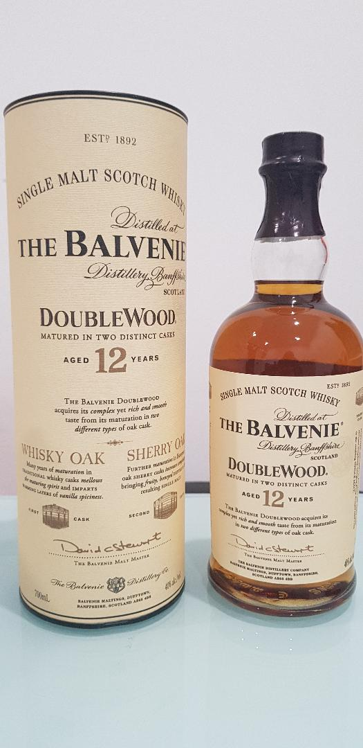 The Balvenie 12 Year Old DoubleWood Scotch Whisky 700mL @ 40 % abv