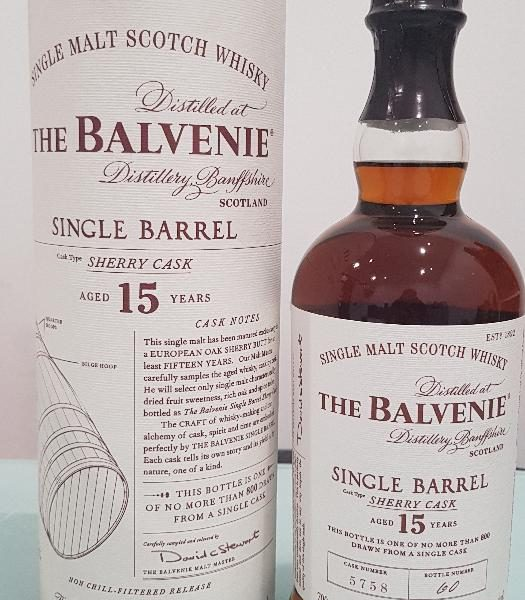 The Balvenie Single Barrel 15 Year Old Scotch Whisky 700mL @ 47.80 % abv