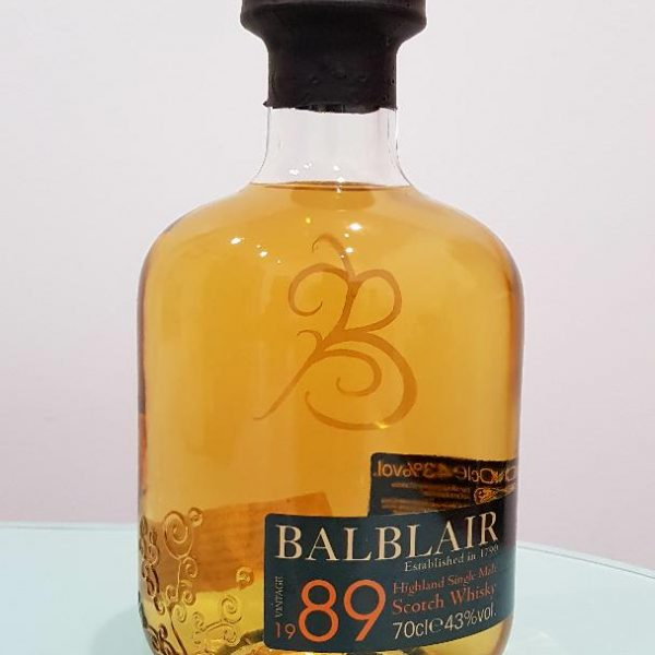 Balblair 1989 Single Malt Scotch Whisky 700 mL @ 43 % abv