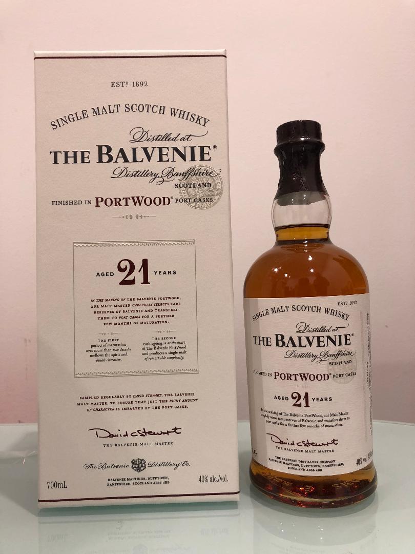 The Balvenie PortWood 21 Year Old Single Malt Scotch Whisky 700mL @ 40 % abv