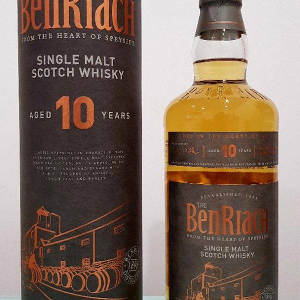Benriach 10 Year Old Single Malt Scotch Whisky 700 mL @ 43 % abv
