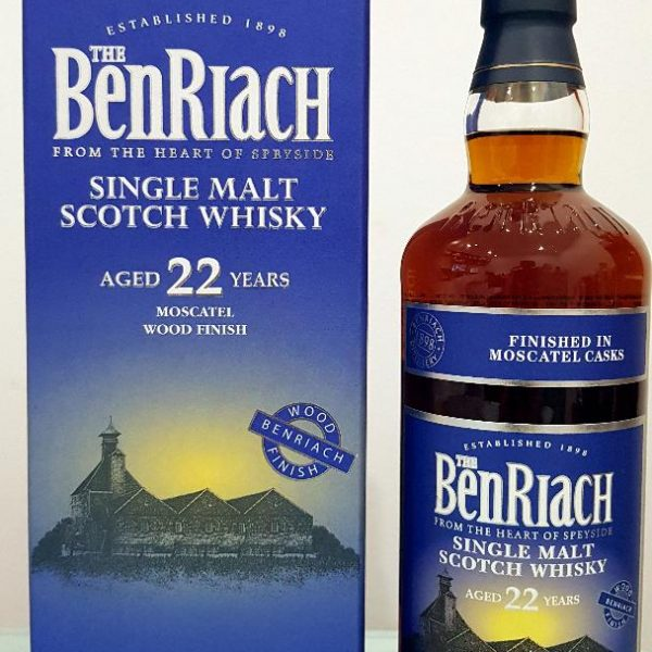 Benriach Moscatel Wood Finish 22 Year Old Single Malt Scotch Whisky 700 mL 46 % abv