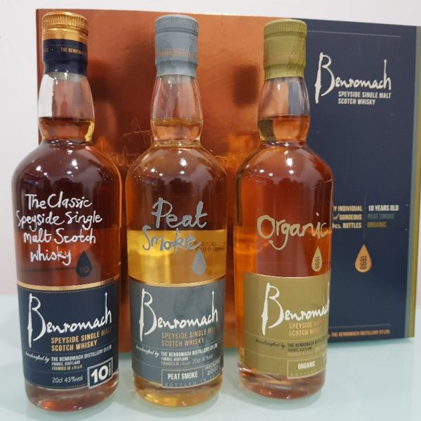 Benromach Single Malt Trio Gift Pack 3 X 200ml