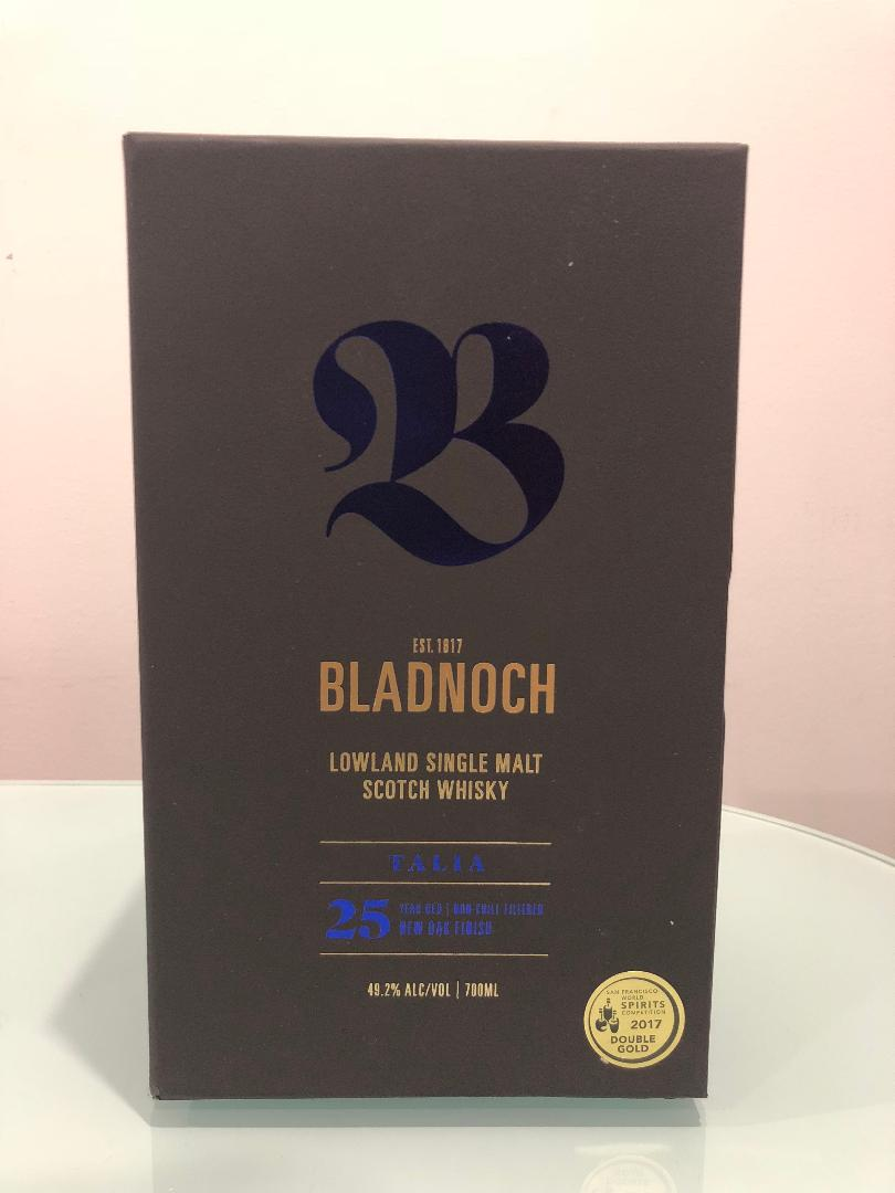Bladnoch Talia 25 Year Old Single Malt Scotch Whisky 700mL@ 49.20% abv