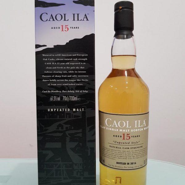 Caol Ila 15 yo 'unpeated style' 700 ml @ 61.5% abv