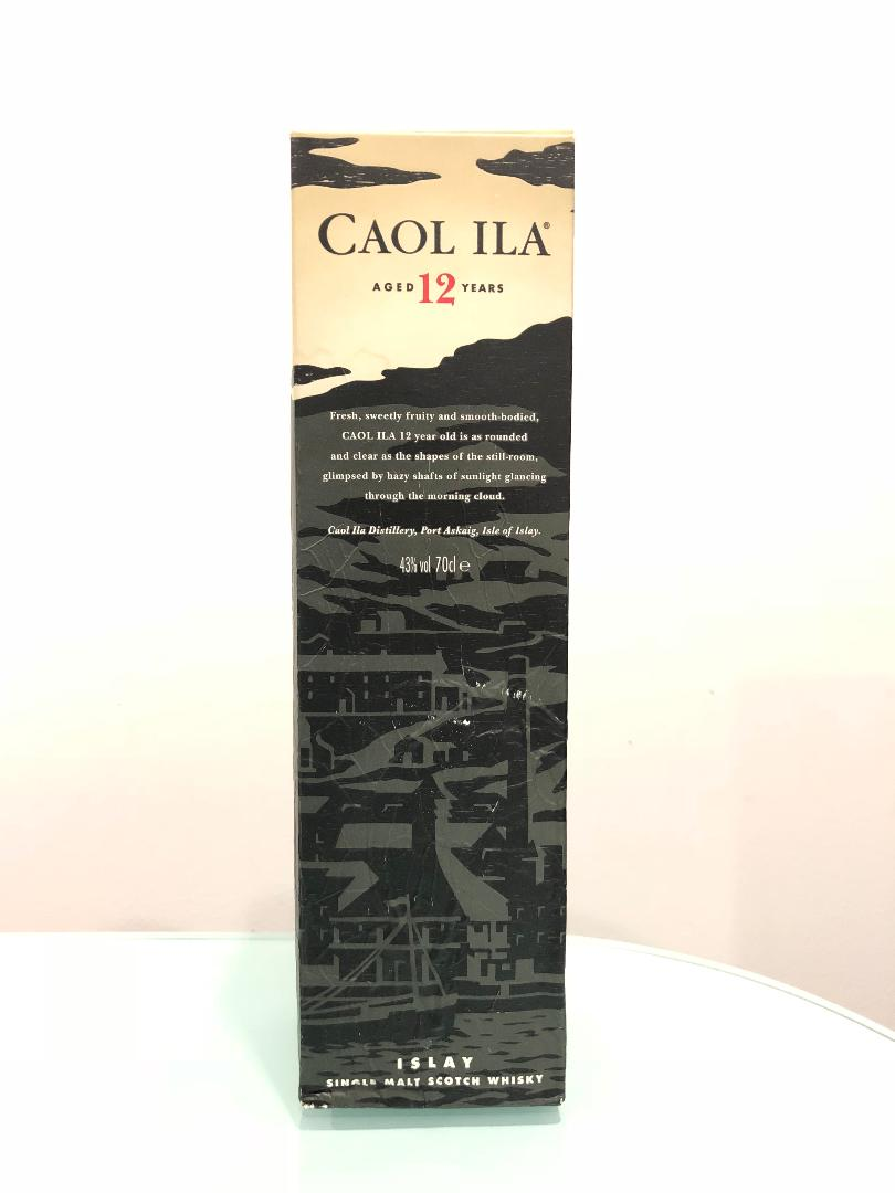 Caol Ila 12 Year Old Scotch Whisky 700mL@ 43% abv
