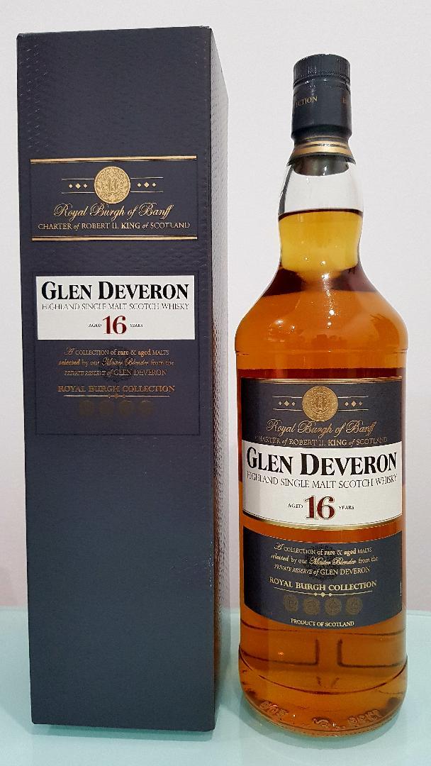 Glen Deveron Single Malt Scotch Whisky 16 YO 1000 mL @40% abv