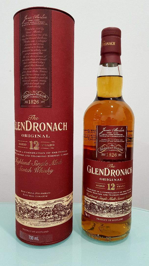 Glendronach Original 12 Year Old Single Malt Scotch Whisky 700ml 43 % abv