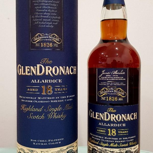 Glendronach Aged 18 Years Allardice Highland Single Malt Scotch Whisky 700ml 46 % abv