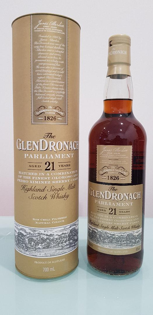 The GlenDronach Parliament 21 Year Old Single Malt Scotch Whisky 700mL @ 48 % abv