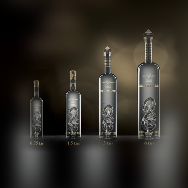 Gold Collection: Royal Dragon Vodka 6L + 3L + 1.5L + 700ml