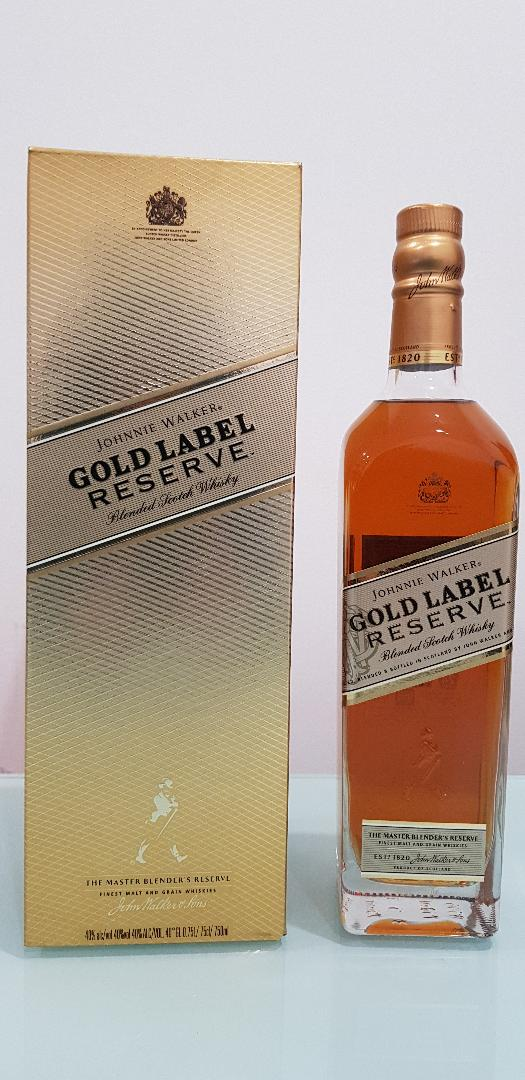 Johnnie Walker Gold Label Reserve Bigger 750mL 40 % abv Gift Box discontinued