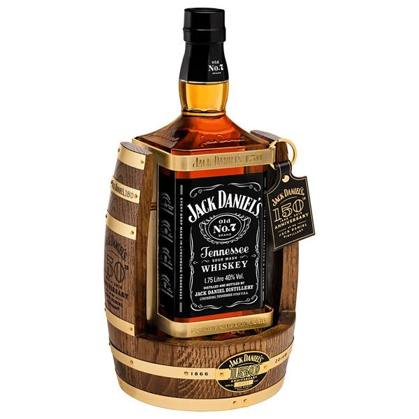 Jack Daniel's old no 7 150th Anniversary tennessee whisky & Cradle 1.75 Ltr