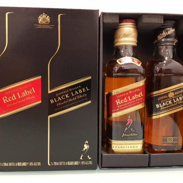 Johnnie Walker Gift Pack 200 ml Black label + 200 ml Red Label