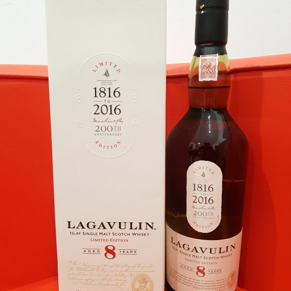 Lagavulin 200th Anniversary Limited Edition 8 YO Single Malt Scotch Whisky 700ml 48 % abv