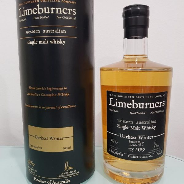Limeburners Darkest Winter Single Malt Whisky 700mL