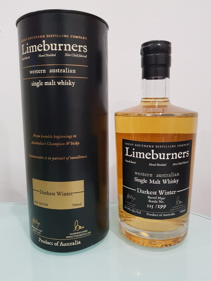 Limeburners Darkest Winter Single Malt Whisky 700mL