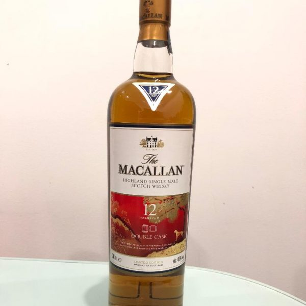 The Macallan 12 Year Old Double Cask Limited Edition (RARE) Sherry Seasoned American & European Oak Single Malt Scotch Whisky 700ml TWIN PACK @ 40% abv