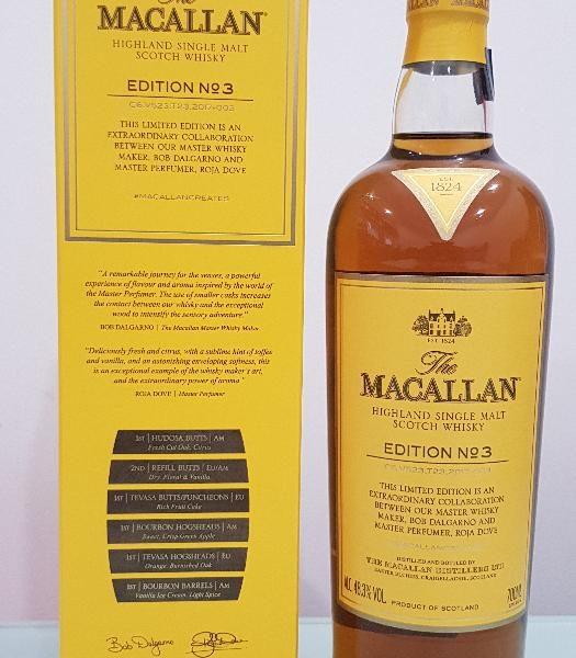 The Macallan edition No. 3 Single Malt Scotch Whisky 700ml @ 48.3 % abv