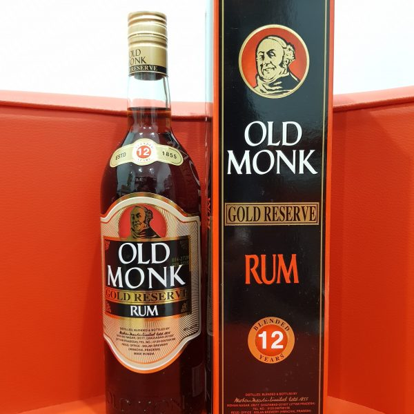 Old Monk Gold Reserve 12 Year Old Rum 700 ml 40 % abv