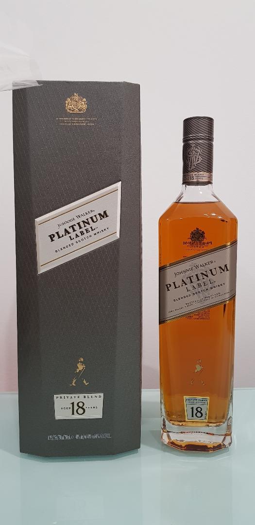 Johnnie Walker Platinum 18 YO Bigger 750mL 40 % abv Gift Box discontinued